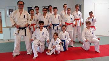Erfolgreiche Prüfung im Oyama  Karate Kai