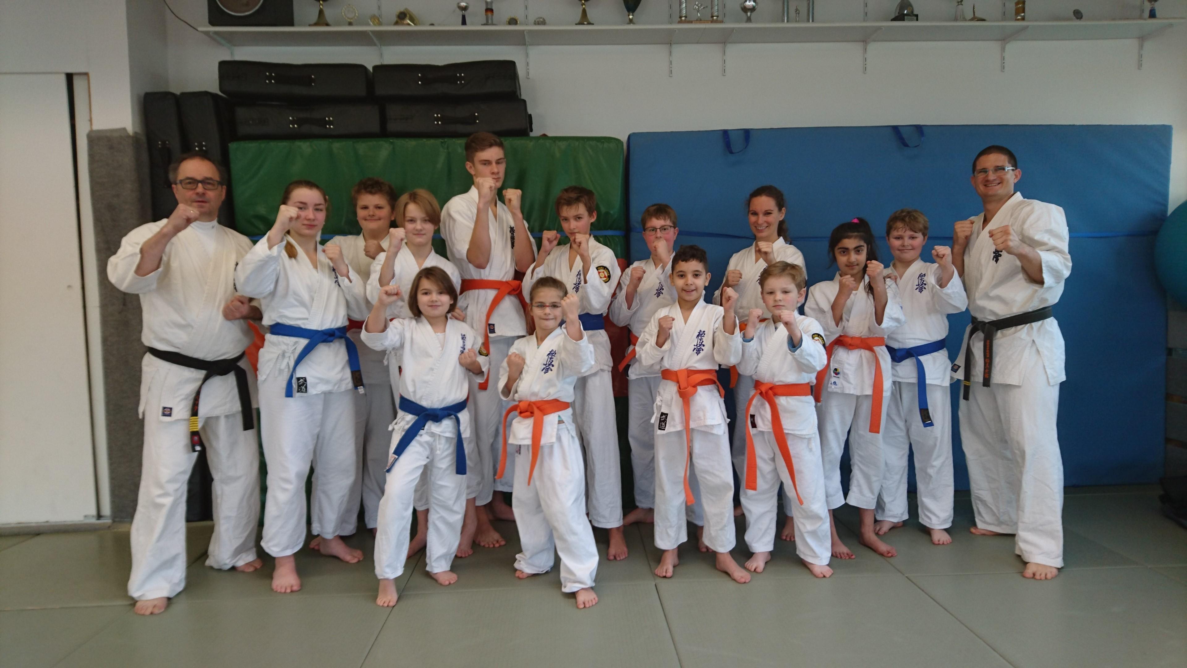 Karateprüfung im Dezember 2017